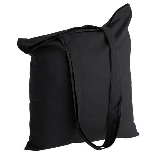 14c540a6ba8e Холщовая сумка Basic 105, черная с нанесением логотипа: купить оптом ...