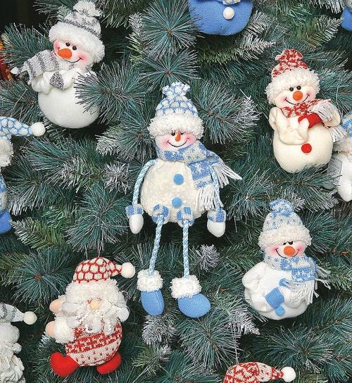 """Мягкая игрушка """"Дед Мороз"""", """"Снеговик"""" с нанесением логотипа: купить оптом в Санкт-Петербурге - HM-004B"""
